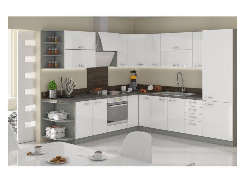 Biało szare szafki kuchenne