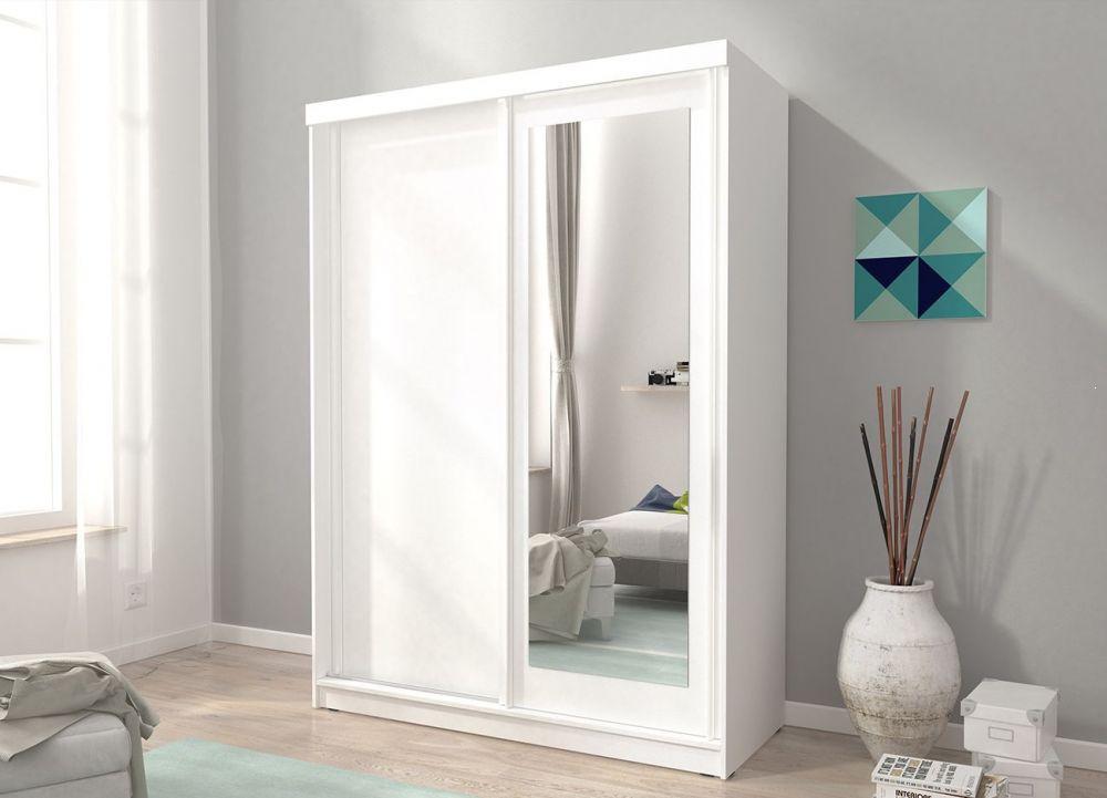 Biała szafa z lustrem Alaska 150 cm