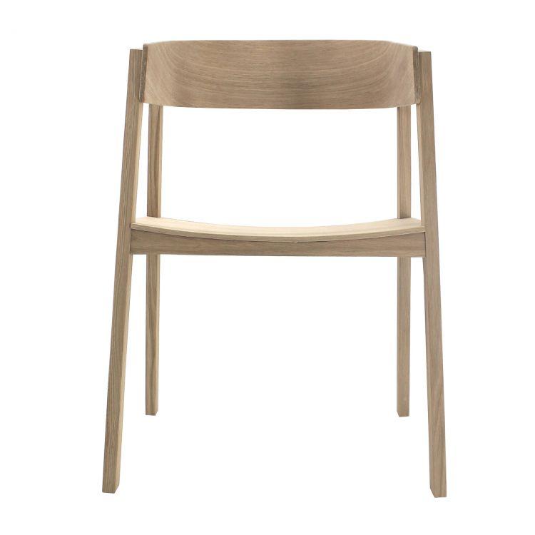 Nowoczesne Krzesło Shell Z Litego Drewna Dębowego