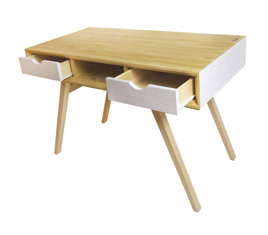 Designerskie biurko z drewna