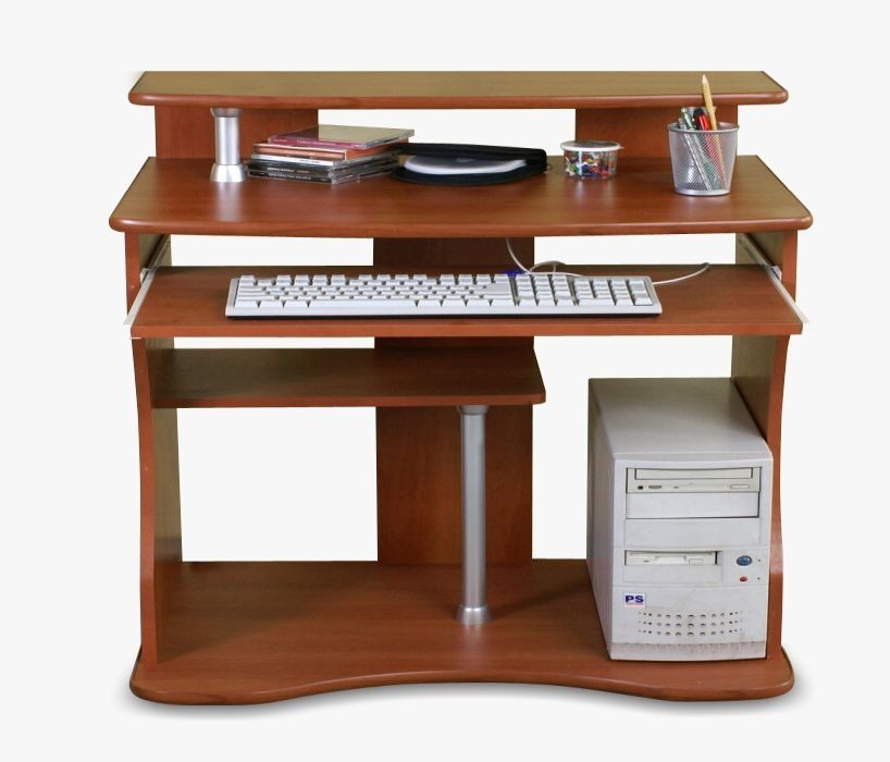 Biurko komputerowe szare