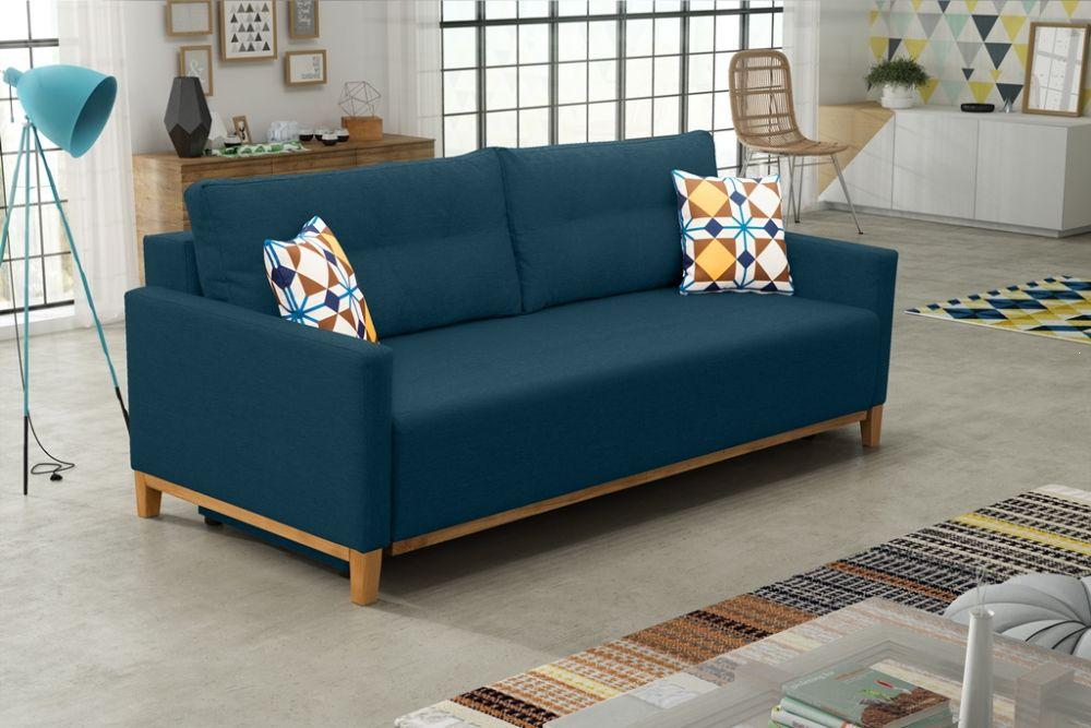 sofa z funkcją spania skandynawski styl