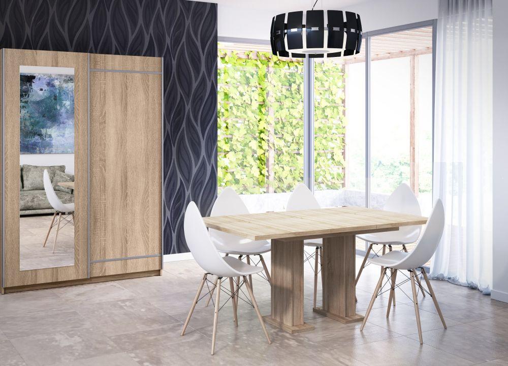 Nowoczesny stół rozkładany Gloss kolor dąb sonoma
