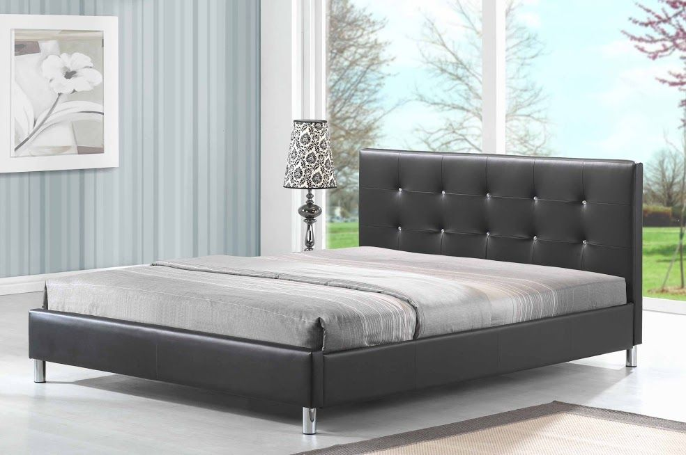 Łóżko tapicerowane pikowane Euros