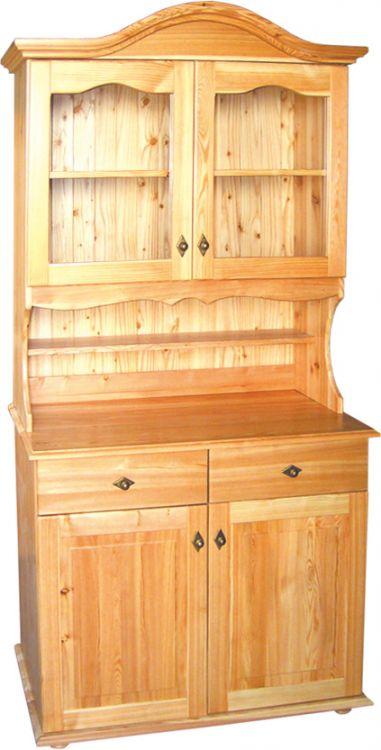 Kredens z drewna modrzewiowego kolor naturalny