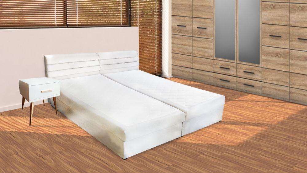 Kontynentalne łóżko tapicerowane