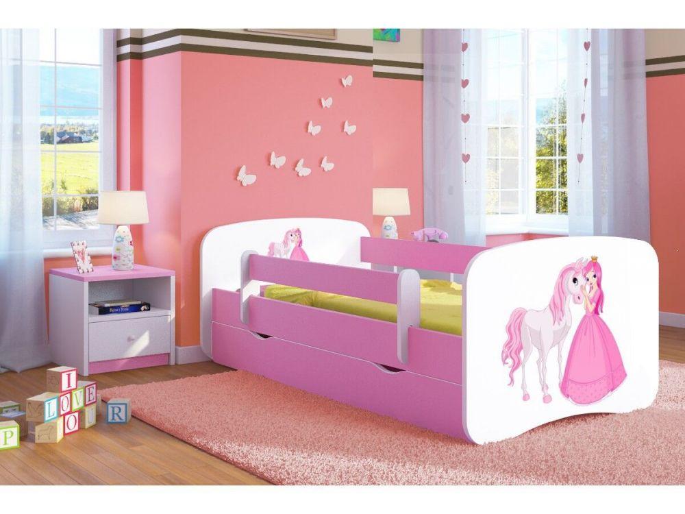 Łóżko młodzieżowe różowe