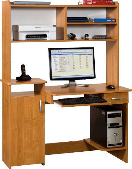 Biurko komputerowe z nadstawką Max