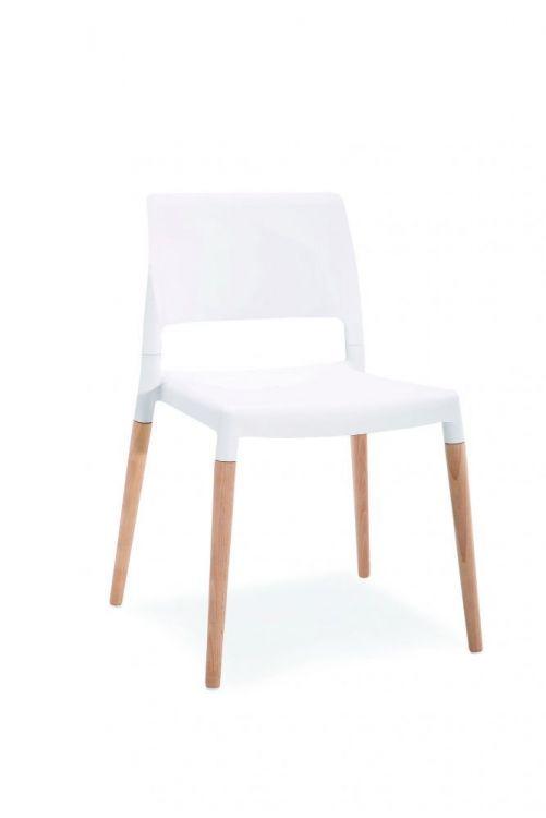 Krzesło Do Kuchni Jadalni Base Białe