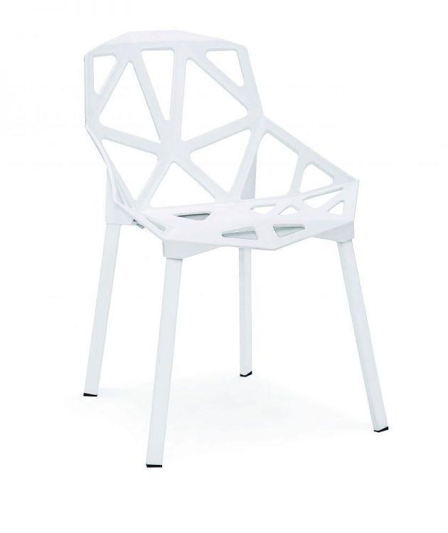 Krzesło do kuchni jadalni Eco białe