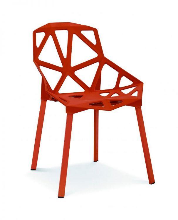 Krzesło do kuchni jadalni Eco czerwone