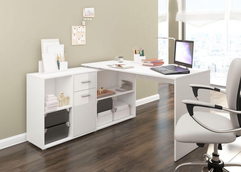 biurko na wysoki połysk