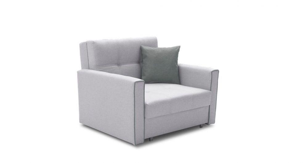 szary fotel rozkładany