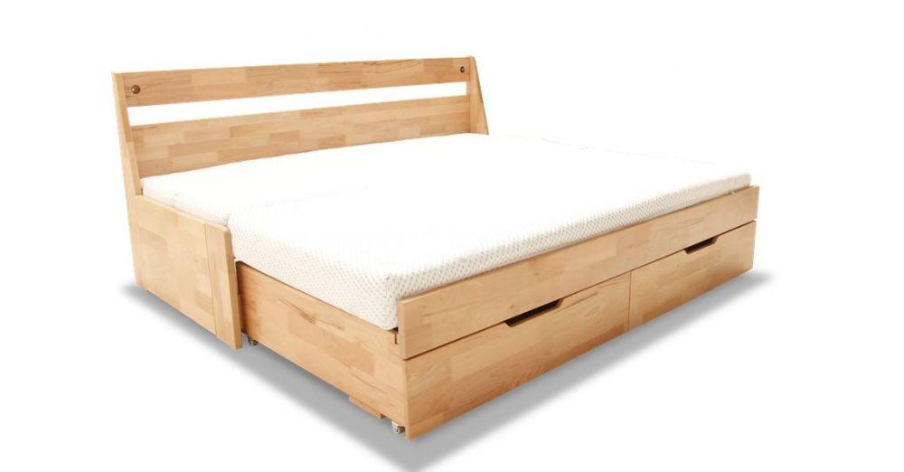 Łóżko bukowe rozkładane dwuosobowe Duo A