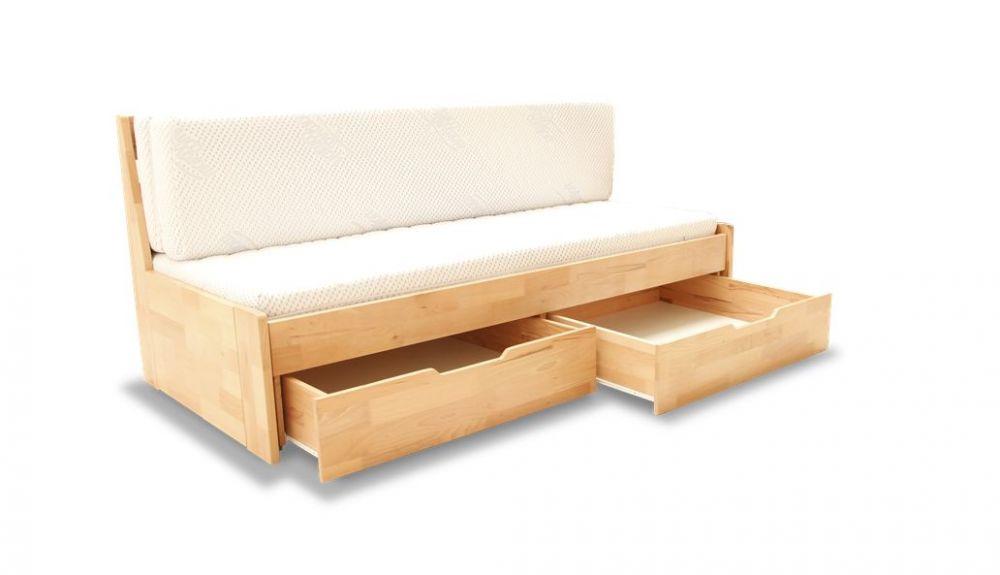 Drewniane łóżko 2 osobowe