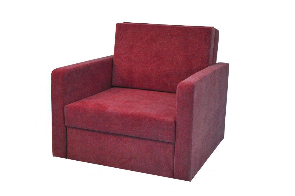 Sofa amerykanka rozkładana Fun 1 osobowa bordowa