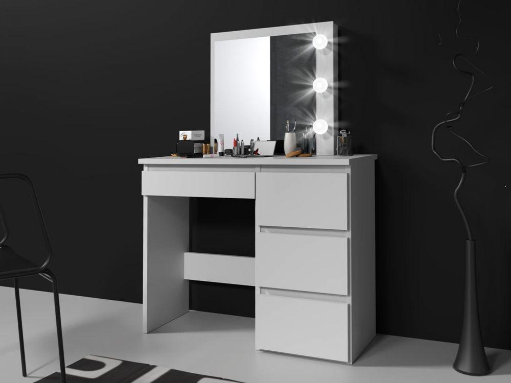 Toaletka biała z lustrem i oświetleniem Beta 3 LED