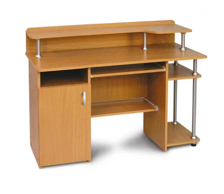 Biurko Komputerowe Z Szafką Szufladą I Półkami Alfa Białe Mat