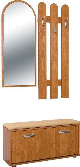 Garderoba z lustrem i siedziskiem